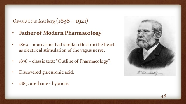 Oswald Schmiedeberg-Father of Pharmacology.