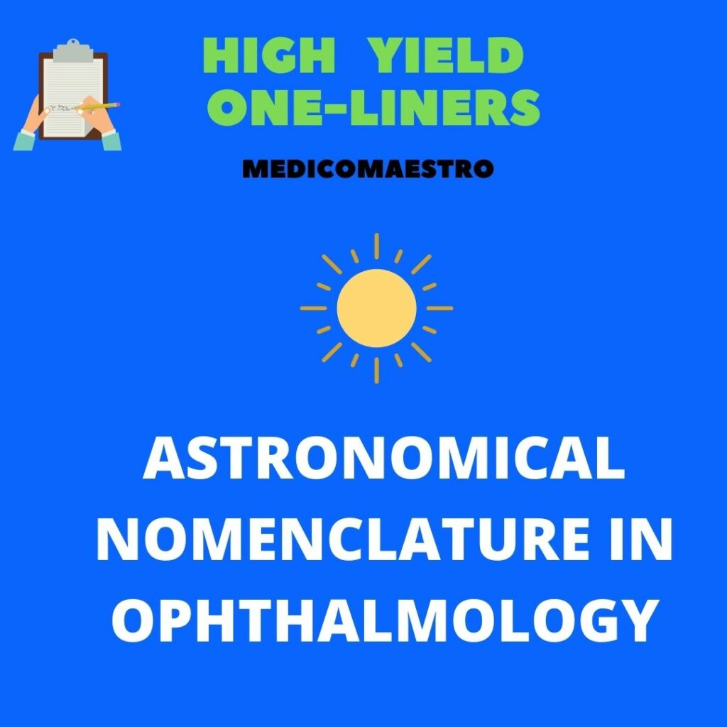 ASTRONOMICAL NOMENCLATURE IN OPHTHALMOLOGY