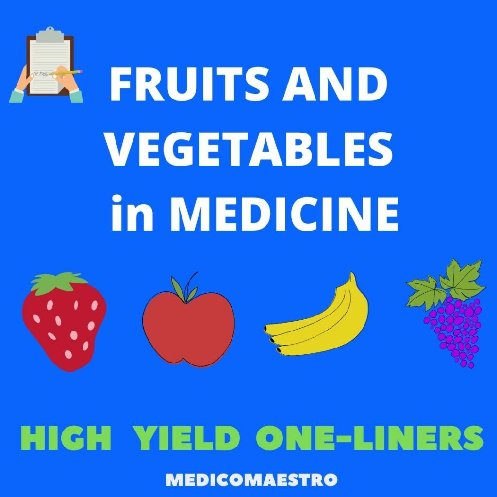 fruits and vegetable in medicine